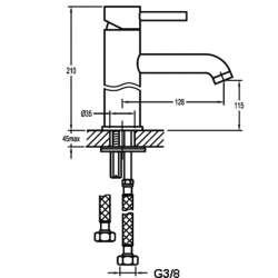 Bergsee Аполо едноръкохватков смесител за мивка- средно висок 2