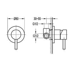 Bergsee Аполо eдноръкохватков трипътен смесител за вграждане 2