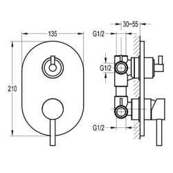 Bergsee Аполо едноръкохватков петпътен смесител за вграждане 2