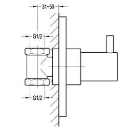 Bergsee Аполо спирателен кран за вграждане 2