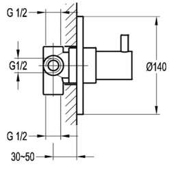Bergsee Аполо четирипътен разпределител за вграждане 2