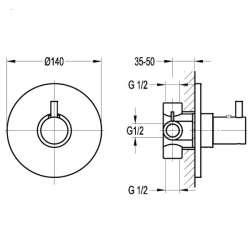 Bergsee Аполо термостатен смесител за вграждане 2