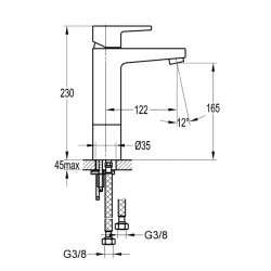Bergsee Гала едноръкохватков смесител за мивка- средно висок 2