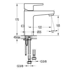 Bergsee Гала едноръкохватков смесител за мивка 2