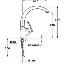 TEKA MC-10 PLUS Кухненски смесител с керамична глава- висок 2