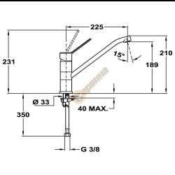 TEKA MT PLUS 973 Кухненски смесител с керамична глава 2