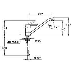 TEKA M-2 Кухненски смесител с керамична глава- нисък 2