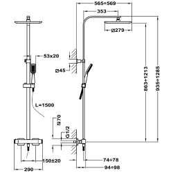TEKA Formentera, Термостатична душ система 2