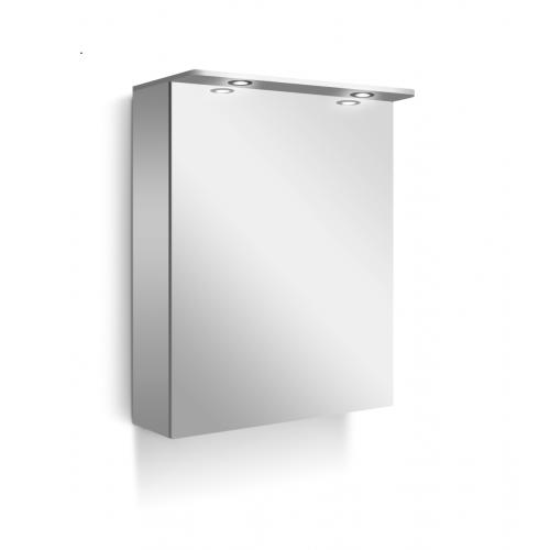 Line горен шкаф с огледална врата 50см бял