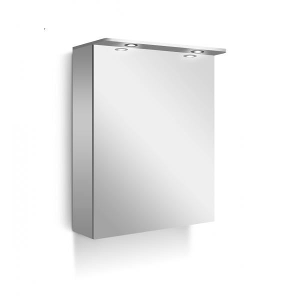 Line горен шкаф с огледална врата 50см бял Line 50 G