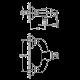 Bergsee Белла смесител за душ златен 2 BS 8468-77G