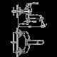 Bergsee Белла смесител за вана/душ златен 2 BS 8168-77G