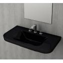 Bocchi Scala Tech умивалник 85см за стена или плот черен гланц