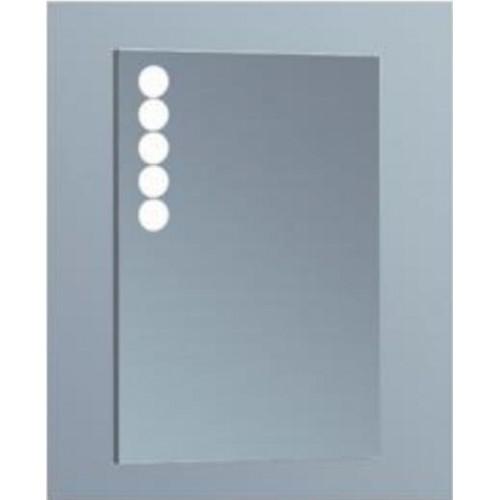 ESPE Огледало с LED, нагревател и часовник 50см