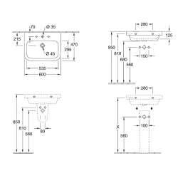 Villeroy & Boch Architectura 60x47 мивка 2