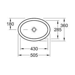 V&B O.Novo мивка за горно вграждане в плот 50x36 2