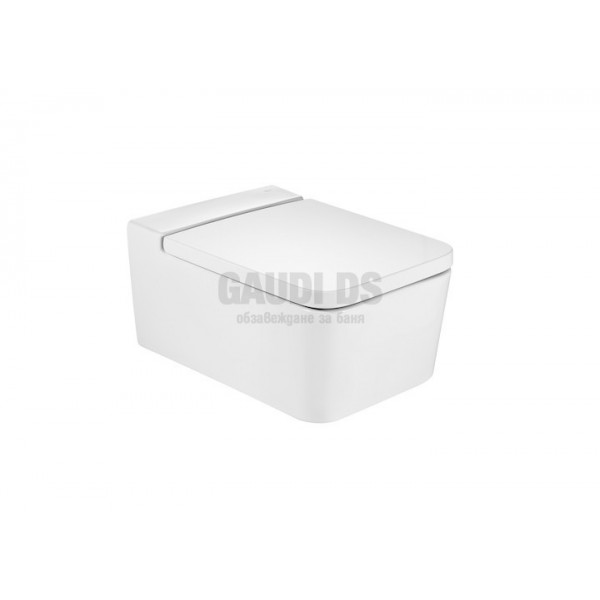Roca Inspira Square Rimless тоалетна за окачване на стена 346537000