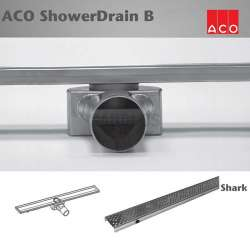 ACO Shower Drain B Shark 885x70mm лентов сифон 416260+416361