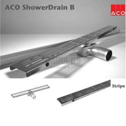 ACO Shower Drain B Stripe 785x70mm лентов сифон 416259+416356