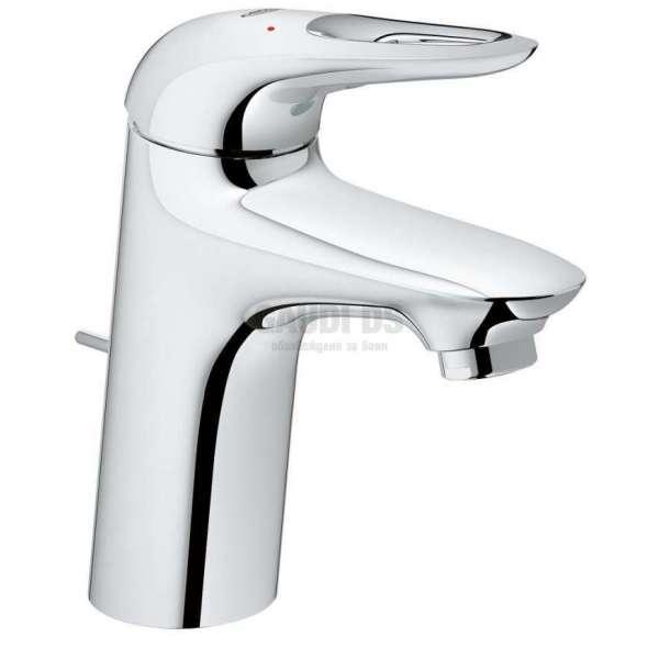 GROHE EUROSTYLE Смесител за мивка с изпразнител 33558003