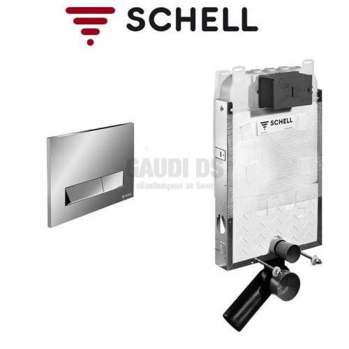 Schell Montus C-N 80 казанче за WC с хром бутон
