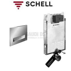 Schell Montus C-N 80 казанче за WC с хром бутон 030590099+030690699