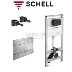 Schell Montus C120 структура за WC с метален бутон 030570099+030702899