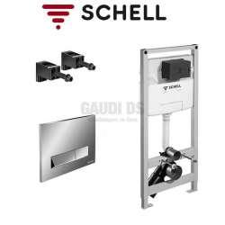 Schell Montus C120 структура за WC с хром бутон 030570099+030690699