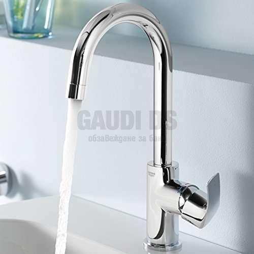 GROHE Eurosmart висок смесител за мивка с изпразнител