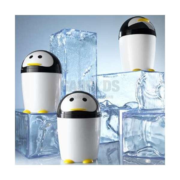 Gedy Penguin кош 7,5 л пингвин черно/бяло 1009 24