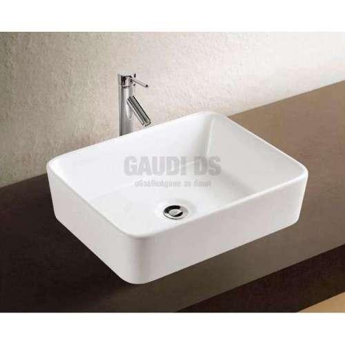 Правоъгълна мивка със заоблени ръбове 48х37 см