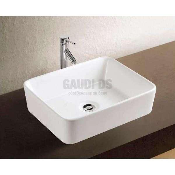 Правоъгълна мивка със заоблени ръбове 48х37 см 1019