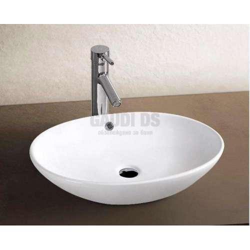 Овална мивка тип купа за плот 63х41 см