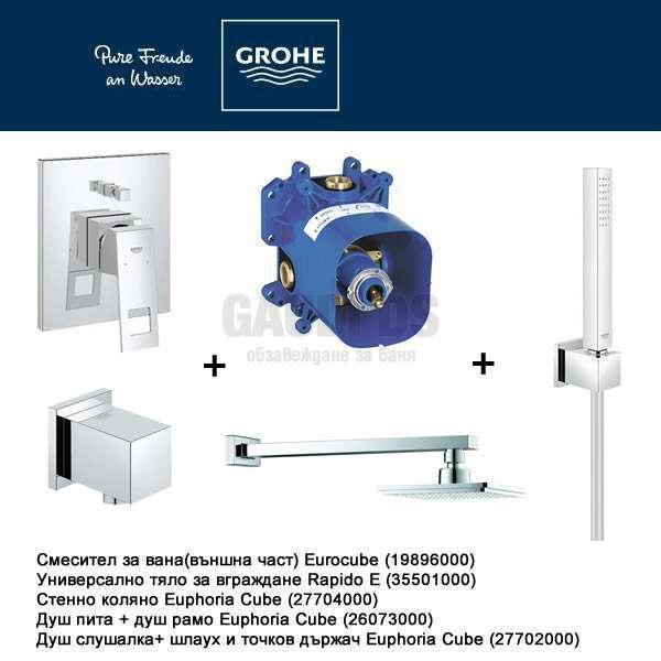 GROHE EUROCUBE Промо пакет за вграждане 123195