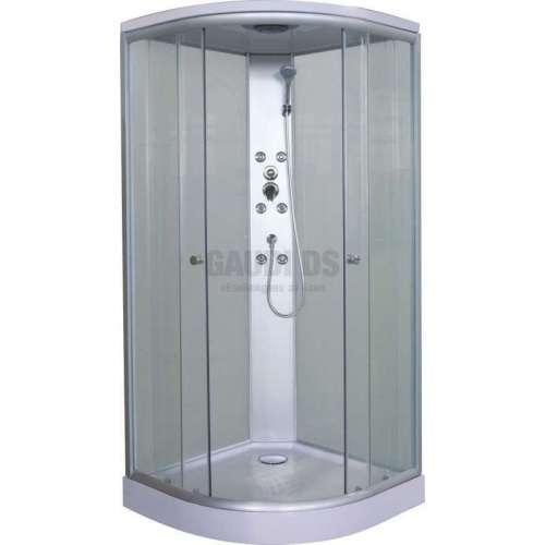Хидромасажна затворена душ кабина 90x90 с матирано стъкло