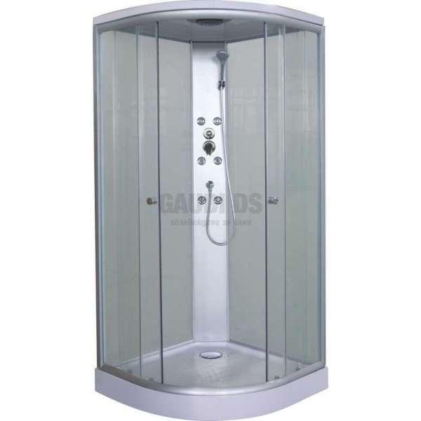 Хидромасажна затворена душ кабина 90x90 с матирано стъкло GDSSANТС01