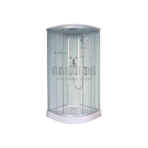 Хидромасажна затворена душ кабина 90х90х215 MOZART с матирано стъкло GDSSANCL90