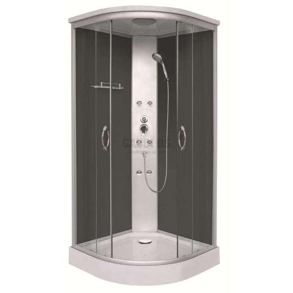 Хидромасажна затворена душ кабина 90x90x209 с матирано стъкло GDSSANTC07