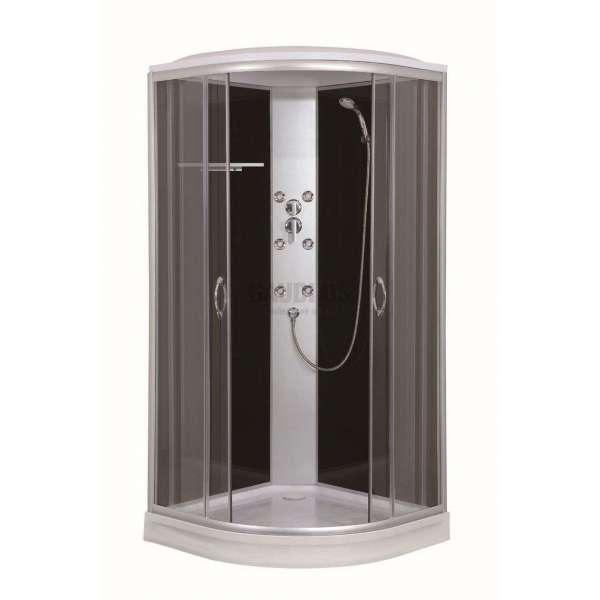 Хидромасажна затворена душ кабина 90х90х215 OASIS с черно стъкло GDSSANCL95