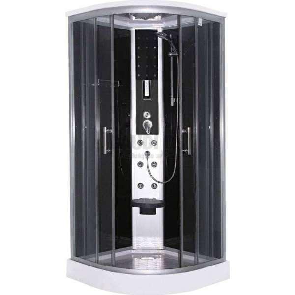 Хидромасажна затворена душ кабина 90х90х215 SCALA в черно GDSSANCL96