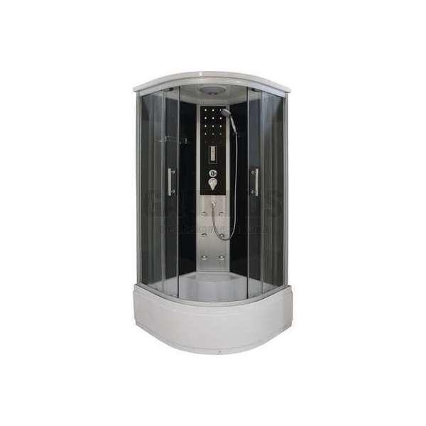 Хидромасажна затворена душ кабина VITA 90х90х215 с високо корито и с черно стъкло GDSSANCL97