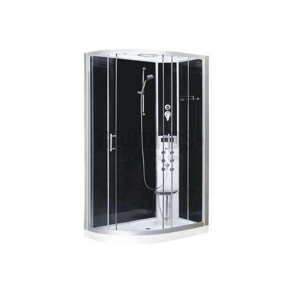 Хидромасажна затворена душ кабина 80х120х215 с черно стъкло дясна GDSSANCL121
