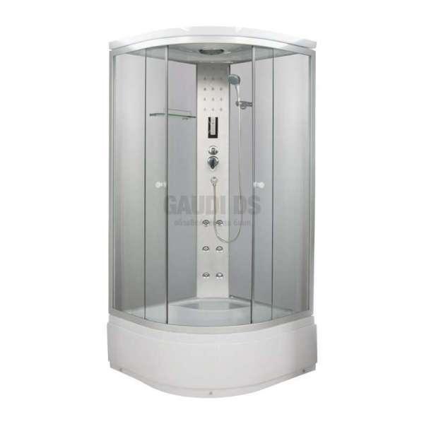 Хидромасажна затворена душ кабина 90х90х205 с хром профил GDSSANPC55