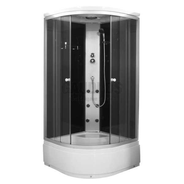 Хидромасажна затворена душ кабина 90х90х205 с черно задно стъкло GDSSANPC50