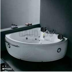 Ъглова вана с хидро и аеромасаж 161х161 см