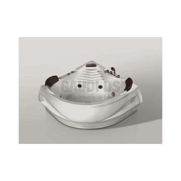 Двойна ъглова вана с хидро и аеромасаж 140х140 см MY-1550