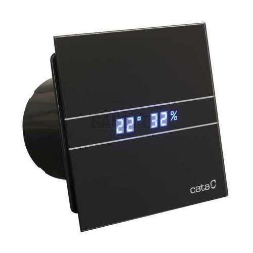 CATA E 100 GTHBK черен вентилатор за баня с датчик влага и таймер