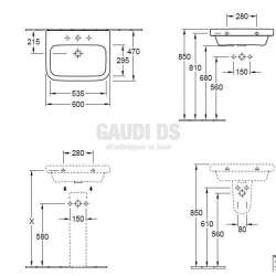 Ъглова мивка Villeroy & Boch Architectura 600 х 470 мм 2