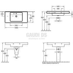 Villeroy & Boch Omnia Architectura - Мивка за баня за свободен монтаж с размер 1000х485 mm 1