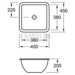 Villeroy & Boch Loop & Friends 45х45 см мивка за вграждане 2